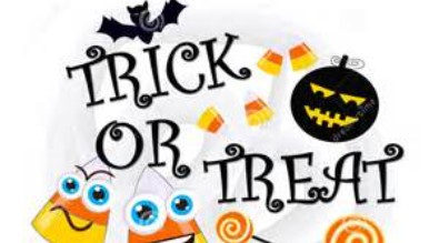 Cartoon of Halloween-related items