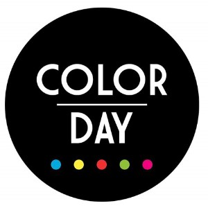 black dot with color day written on it.