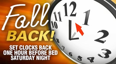 set your clocks back an hour