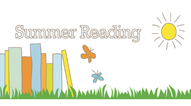 Summer Reading clipart with books