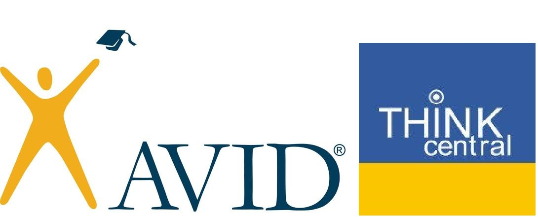 clipart with the AVID and Think Central logos