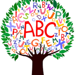 clipart of a tree with the alphabet