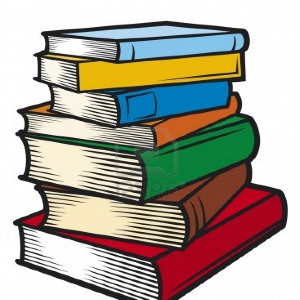 clipart of stack of books