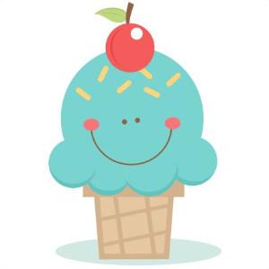 clipart of ice cream cone smiling