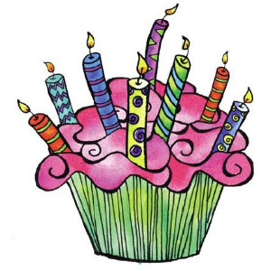Clipart of cupcake with candles