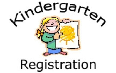 """clipart of a girl holding a drawing of a sun with the words """"Kindergarten Registration"""" around her"""
