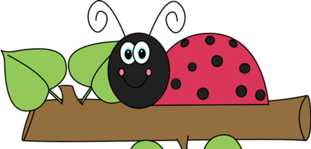 clipart of a ladybug on a branch