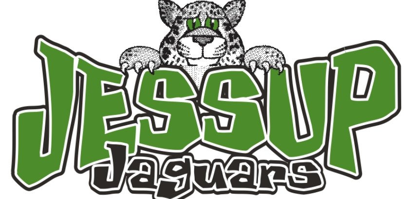 Jessup Jaguar Logo with a Jaguar Looking Over the Word Jessup