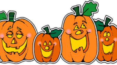 clipart of a line of jack o'lanterns