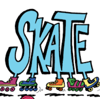 "Clipart of the word ""skate"""
