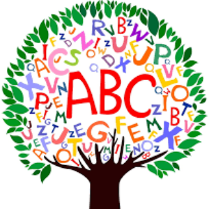 Clipart of a tree with the alphabet on it