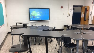 classroom with alternative seating