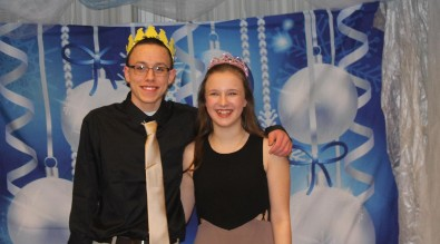 Snowball king and queen, 9th graders Zack Keihl and Jenny Smith