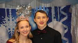 Princess and Prince, eighth graders Shayla Hines and Ian Pete.