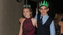 Duchess and Duke, seventh graders Kat Kelly and Truman Sharp.