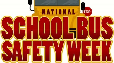 School Bus Safety Week graphic.