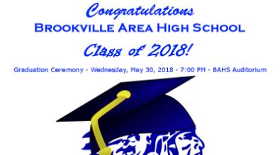 Class of 2018 graduation graphic