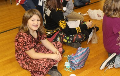 A Hickory Grove student poses during Wheelers and Dealers.
