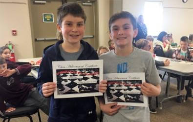 Chess tournament participants.
