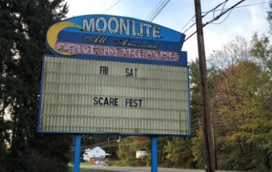 Moonlite Drive-In sign.