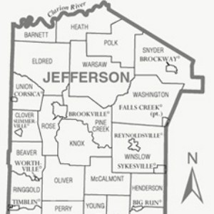 Jefferson County map graphic
