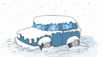 Snowy car clip art.