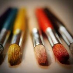 Art paint and brushes