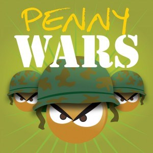 Graphic of a penny wars emblem.