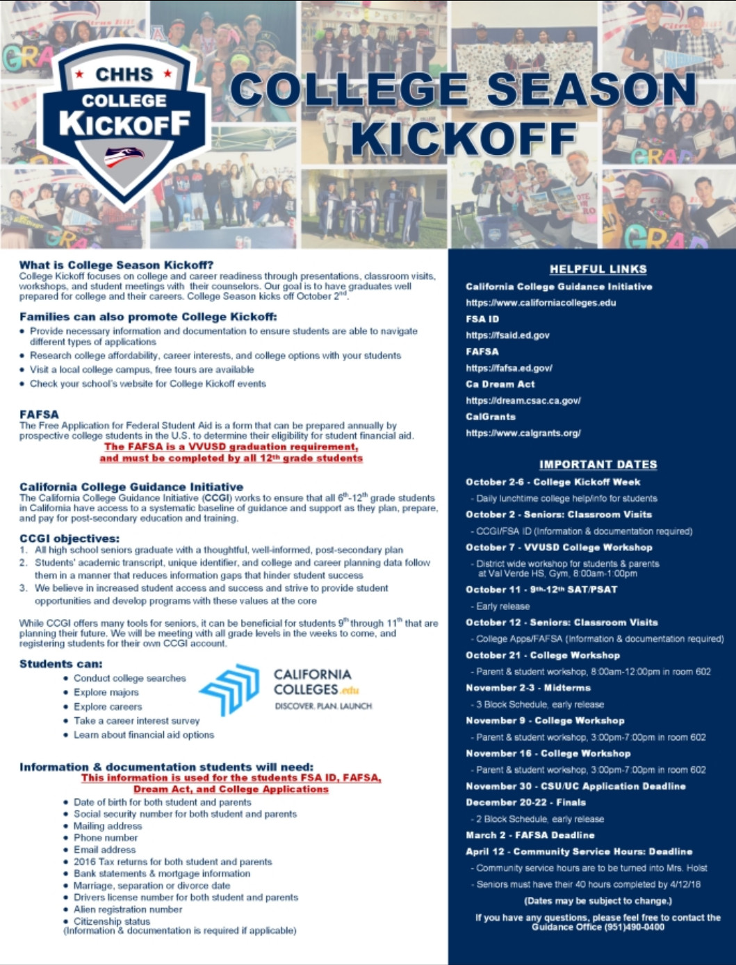 college season kickoff flyer