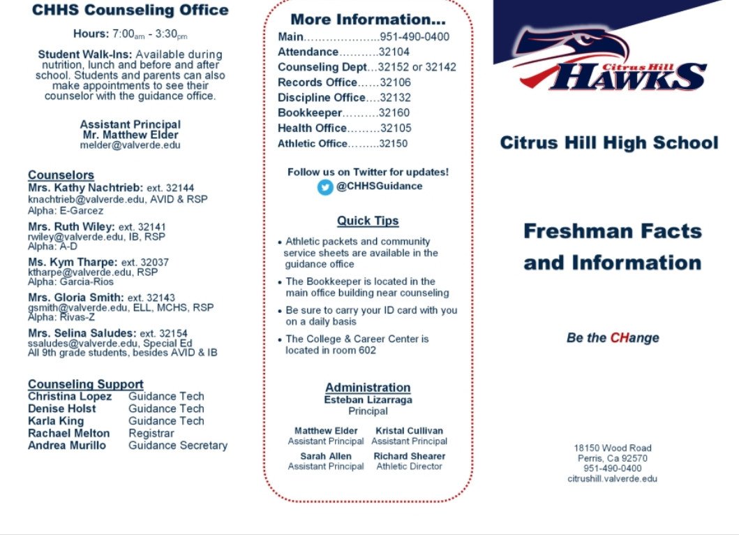 Freshman info