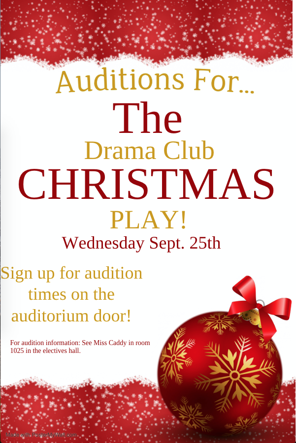 Audition for Christmas Play