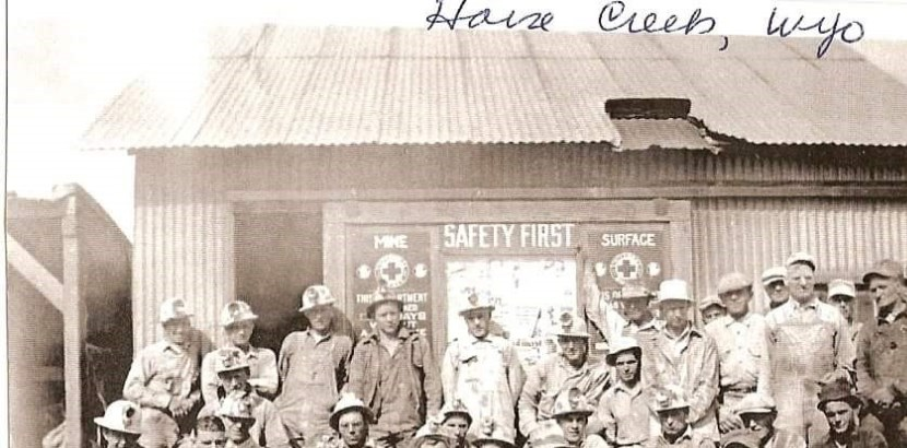 Historic picture of Horse Creek Miners..