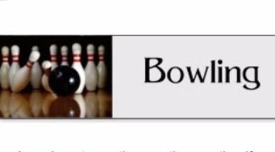 Bowling team logo