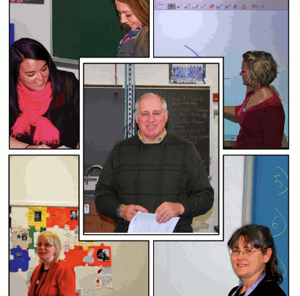 Collage of several teachers