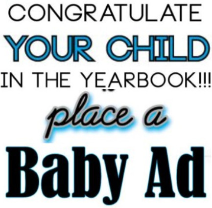 Text that says place a baby ad