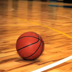 image of basketball on the court