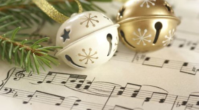 Image of sheet music and jingle bells