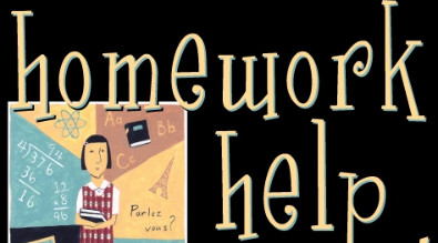 Graphic that says homework help