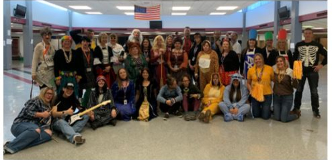 Image of Staff dressed in Halloween Costumes