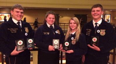 FFA members holding awards