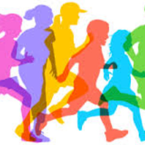CLipart of students running