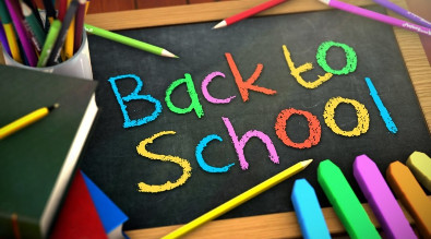 "Chalkboard reading ""Back to School"""