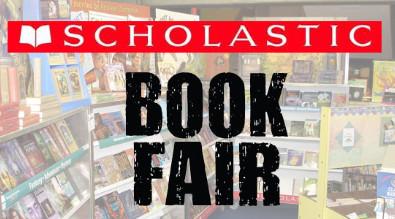 "Picture of book fair.  Reads ""Scholastic Book fair"""