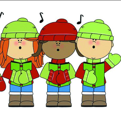 Clipart of children caroling
