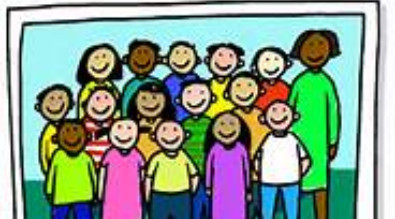 Clipart of a class picture