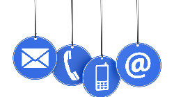 Clipart of phone and email