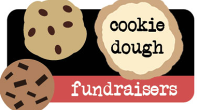 "Image of cookies with text ""Cookie Dough Fundraisers"""