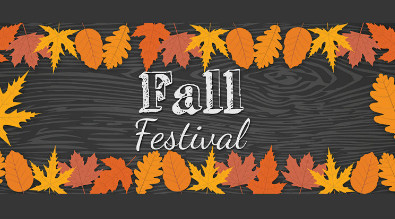 Text reads Fall Festival with a boarder of leaves.