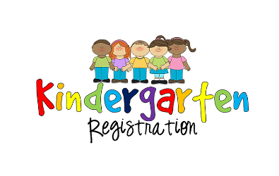 "Clipart of of students over wording that reads ""Kindergarten Graduation""."