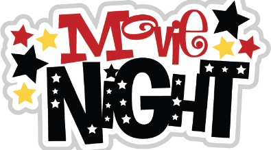 """Clipart reads """"Movie Night"""""""